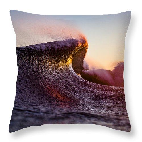 Liquid Throw Pillow featuring the photograph Liquid Sculpture by Ryan Moore