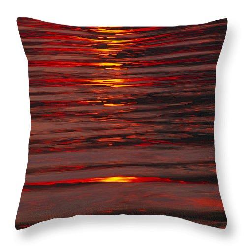 Lake Geneva Throw Pillow featuring the photograph Liquid Sunset - Lake Geneva Wisconsin by Bruce Thompson