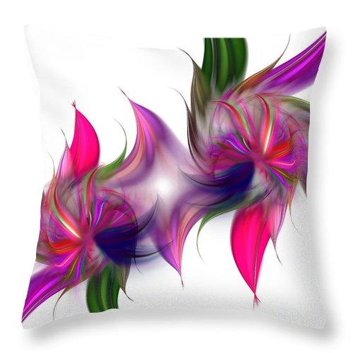 Abstract Throw Pillow featuring the digital art Liquidity Of Math by Georgiana Romanovna