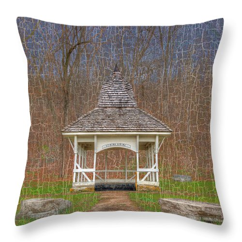 Hdr Throw Pillow featuring the photograph Lithium Spring by Larry Braun