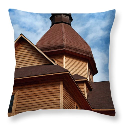 Church Throw Pillow featuring the photograph Lithuanian Church by Murray Bloom