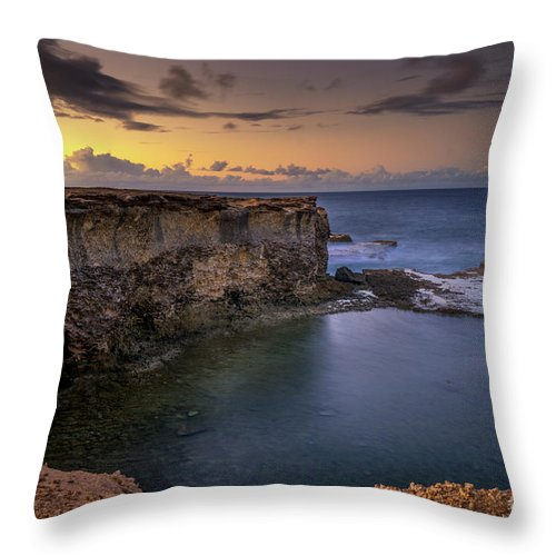 2017 Throw Pillow featuring the photograph Little Bay North At 530 by Hugh Walker