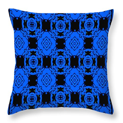 Pattern Throw Pillow featuring the digital art Little Blue Angels Abstract by Debra Lynch