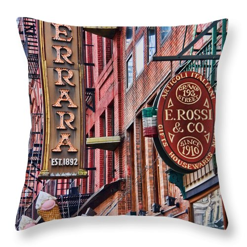 Little Italy Throw Pillow featuring the photograph Little Italy by June Marie Sobrito