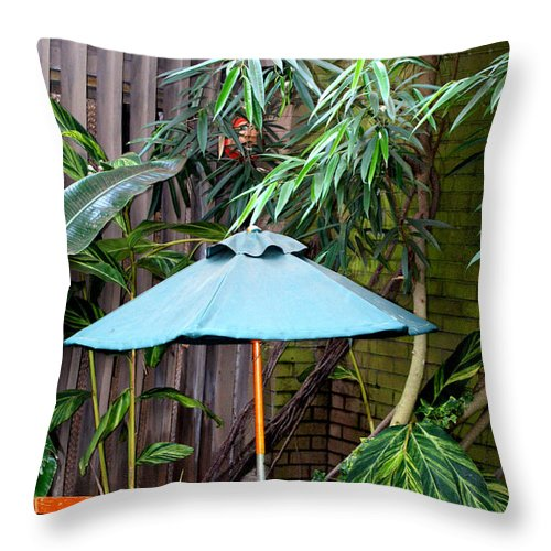 Photography Throw Pillow featuring the photograph Little Oasis by Shelley Jones