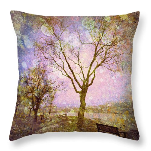 Texture Throw Pillow featuring the photograph Little Pathways by Tara Turner