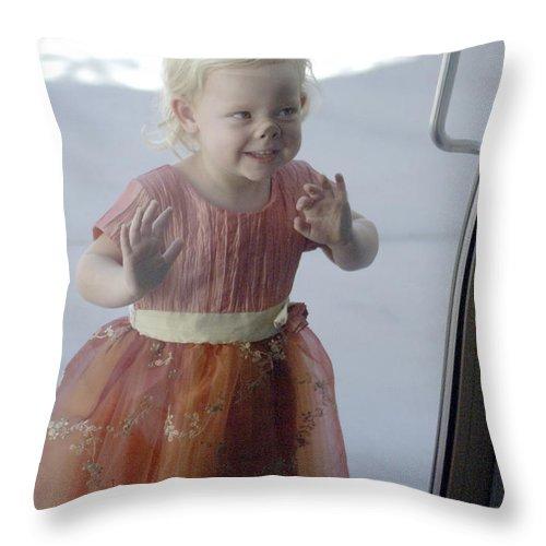 Funny Throw Pillow featuring the photograph Little Piggy by Jill Reger