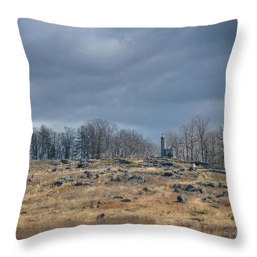 Gettysburg Throw Pillow featuring the photograph Little Round Top by Jen Goellnitz