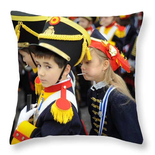 Spain Throw Pillow featuring the photograph Little Soldiers II by Rafa Rivas