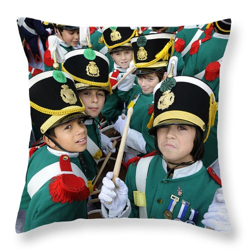 Spain Throw Pillow featuring the photograph Little Soldiers Vi by Rafa Rivas