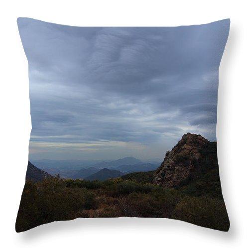 Little Sycamore Canyon Road Throw Pillow featuring the photograph Little Sycamore Canyon Road by Viktor Savchenko