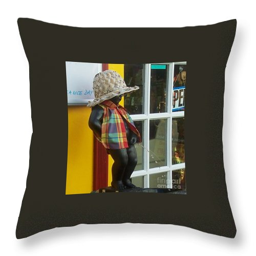 Fountain Throw Pillow featuring the photograph Little Wiz by Debbi Granruth