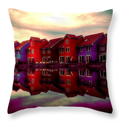 House Throw Pillow featuring the digital art Live And Reflect by Lyriel Lyra