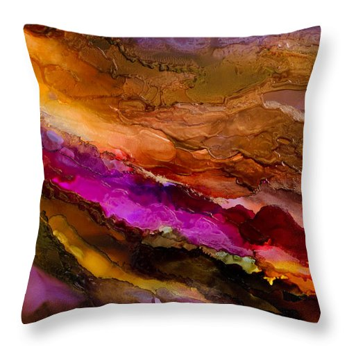 Abstract Throw Pillow featuring the painting Live Your Passion - A - by Sandy Sandy