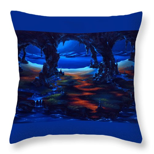 Textured Painting Throw Pillow featuring the painting Living Among Shadows by Jennifer McDuffie