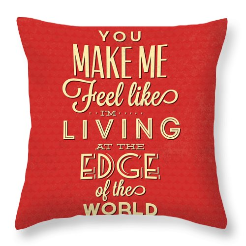 Motivation Throw Pillow featuring the digital art Living At The Edge by Naxart Studio