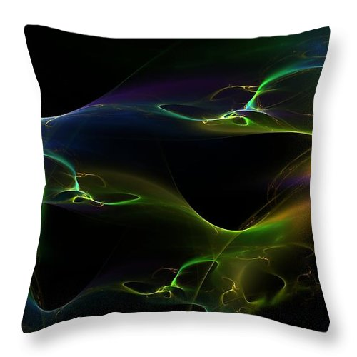 Colorful Throw Pillow featuring the digital art Living Colors by Greg Moores