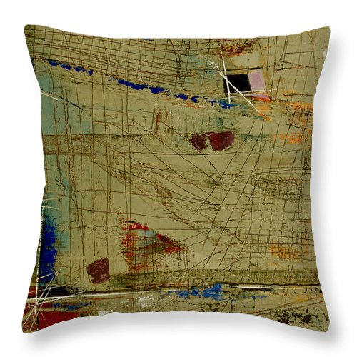 Abstract Throw Pillow featuring the painting Living Dangerously by Ruth Palmer
