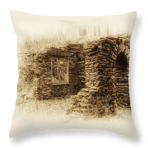 Old House Throw Pillow featuring the photograph Living In The Past by Bill Cannon