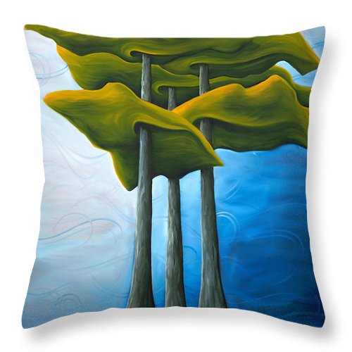 Landscape Throw Pillow featuring the painting Living In The Shadow by Richard Hoedl