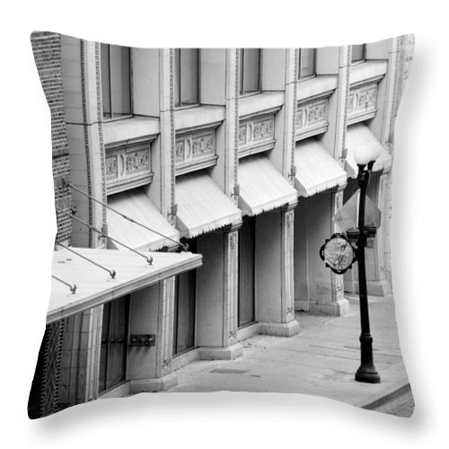 Architecture Throw Pillow featuring the photograph Loan Bike by Jill Reger