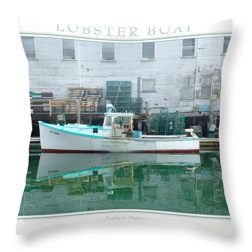 Landscape Throw Pillow featuring the photograph Lobster Boat by Peter Muzyka
