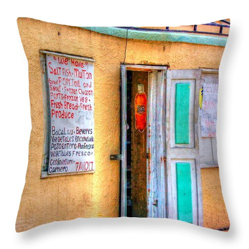 Store Throw Pillow featuring the photograph Local Store by Debbi Granruth