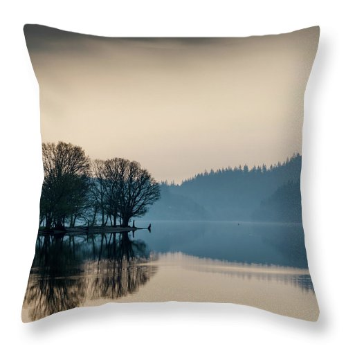 Loch Ard Throw Pillow featuring the photograph Loch Ard Reflection by Dave Bowman