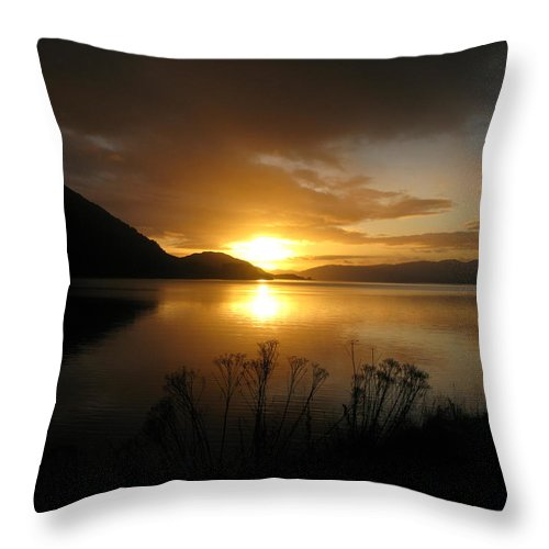 Highlands Throw Pillow featuring the photograph Loch Awe by Maria Joy