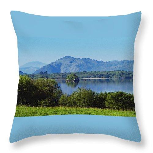 Irish Throw Pillow featuring the painting Loch Leanne Painting Killarney Ireland by Teresa Mucha