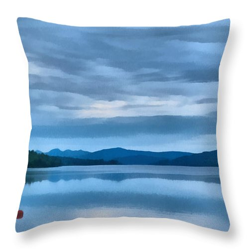 Loch Rannoch Throw Pillow featuring the photograph Loch Rannoch by Chris Thaxter