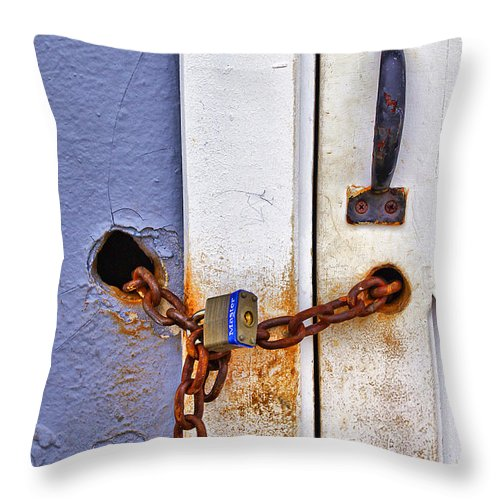 Beach Throw Pillow featuring the photograph Locked Out by Evelina Kremsdorf