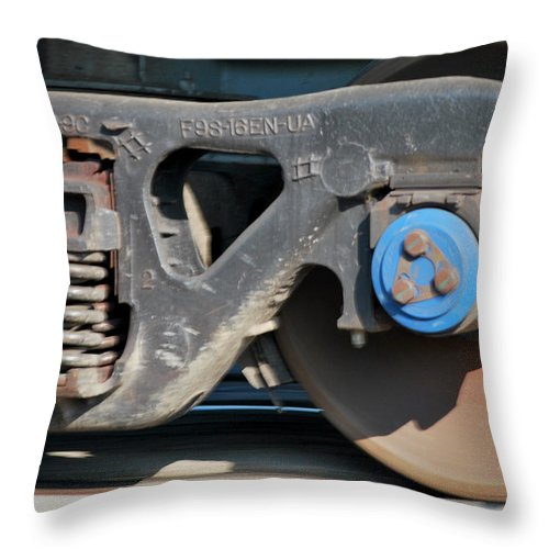 Train Throw Pillow featuring the photograph Locomotion by Donna Shahan
