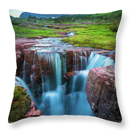 America Throw Pillow featuring the photograph Logan Pass Abyss by Inge Johnsson