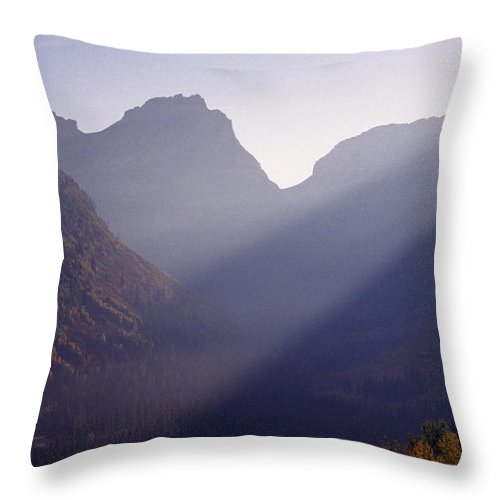 Mountains Throw Pillow featuring the photograph Logan Pass by Richard Rizzo