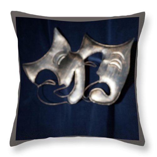 Logo Throw Pillow featuring the photograph Logo for Theater Productions by Alan D Smith