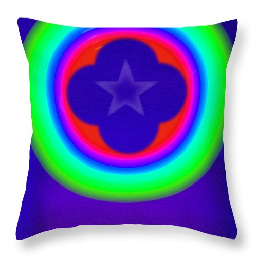 Abstract Throw Pillow featuring the painting Logos by Charles Stuart