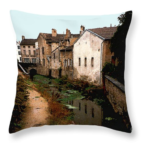 France Throw Pillow featuring the photograph Loire Valley Village Scene by Nancy Mueller