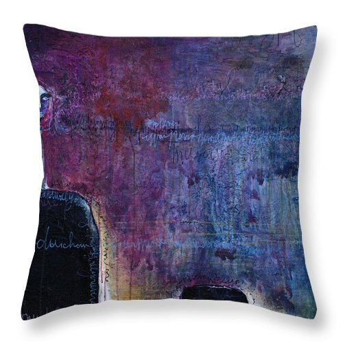 Laurie Maves Throw Pillow featuring the painting Lollipop Love No. 3 by Laurie Maves ART
