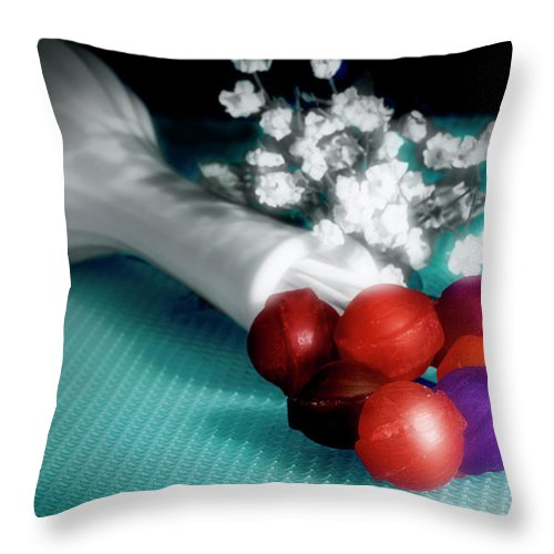 Sucker Throw Pillow featuring the photograph Lollipop Roses by Tom Mc Nemar