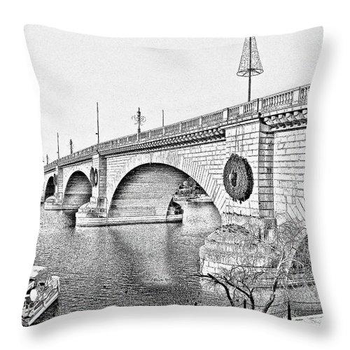 Lake Havasu Throw Pillow featuring the photograph London Bridge Lake Havasu City Arizona by Christine Till