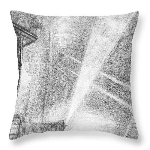 1914 Throw Pillow featuring the drawing London, Charing Cross. by Granger