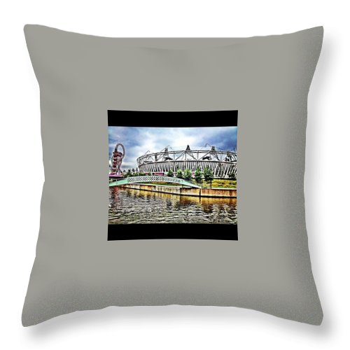 London Olympic Throw Pillow featuring the photograph London Olympic by Scott Lighterness