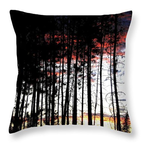Sunset Throw Pillow featuring the photograph Lone Butte Sunset by Will Borden