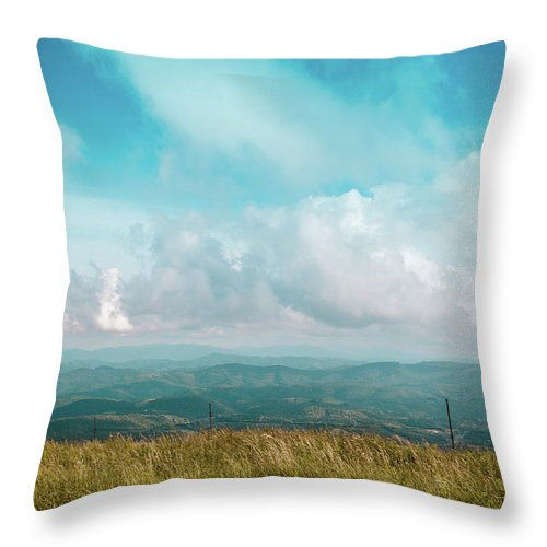 Landscape Throw Pillow featuring the photograph Lone Post by Jim Love