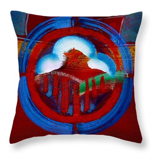 Star Throw Pillow featuring the painting Lone Star State by Charles Stuart