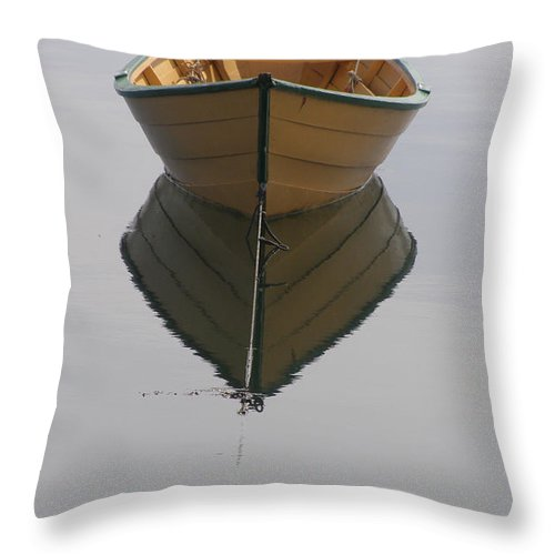 Boat Throw Pillow featuring the photograph Lonely Boat by Frederic Durville