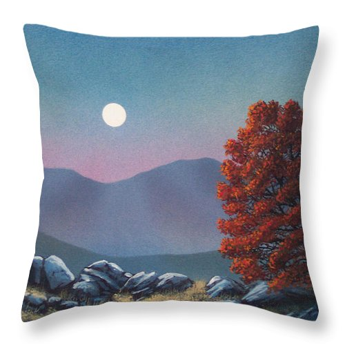 Landscape Throw Pillow featuring the painting Lonely Sentinel by Frank Wilson