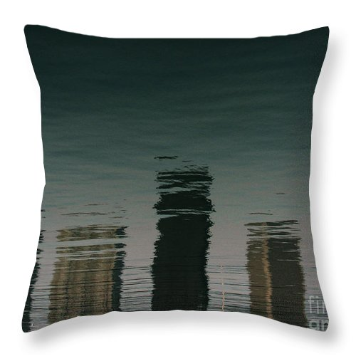 Lake Throw Pillow featuring the photograph Lonely Soul by Dana DiPasquale