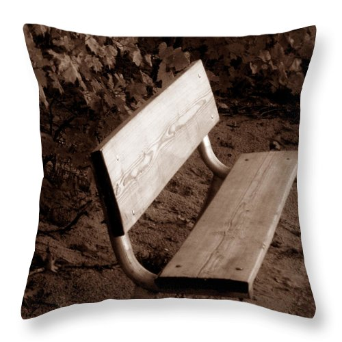 Lonliness Throw Pillow featuring the photograph Lonely by Wayne Potrafka